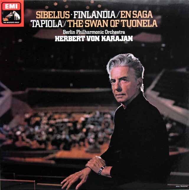 【オリジナル盤】 カラヤンのシベリウス/「フィンランディア」ほか管弦楽曲集 英EMI 3329 LP レコード