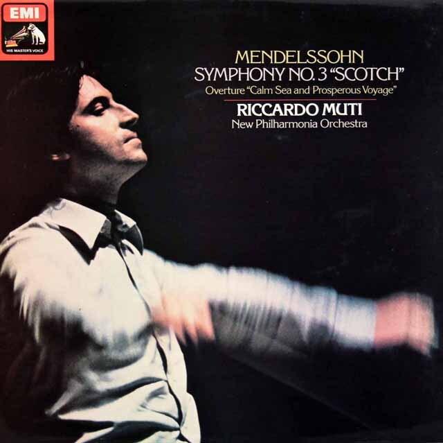 【オリジナル盤】 ムーティのメンデルスゾーン/交響曲第3番「スコットランド」  英EMI 3329 LP レコード