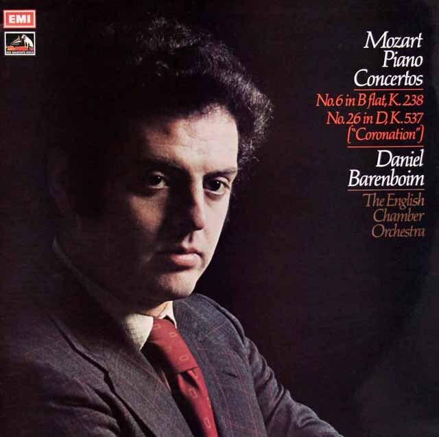【オリジナル盤】 バレンボイムのモーツァルト/ピアノ協奏曲第26番「戴冠式」&第6番 英EMI 3329 LP レコード