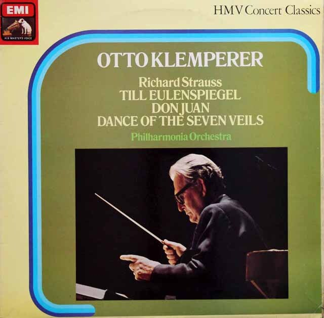 クレンペラーのR.シュトラウス/「ドン・ファン」ほか 英EMI 3329 LP レコード