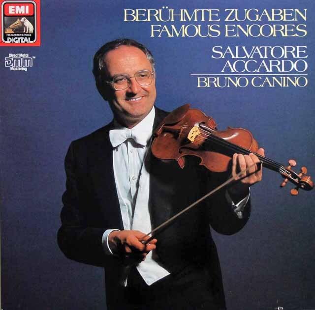 アッカルドの「ヴァイオリン・アンコール小品集」 独EMI 3329 LP レコード