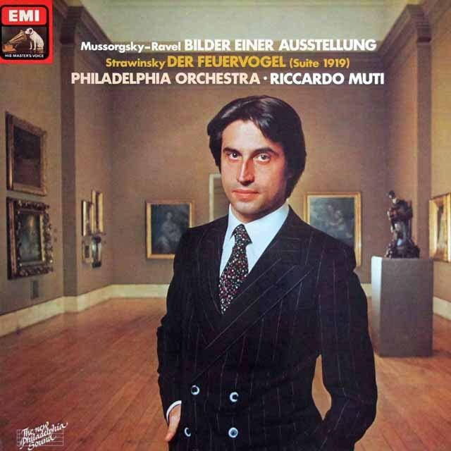 ムーティのムソルグスキー/組曲「展覧会の絵」&ストラヴィンスキー/「火の鳥」(1919) 独EMI 3329 LP レコード