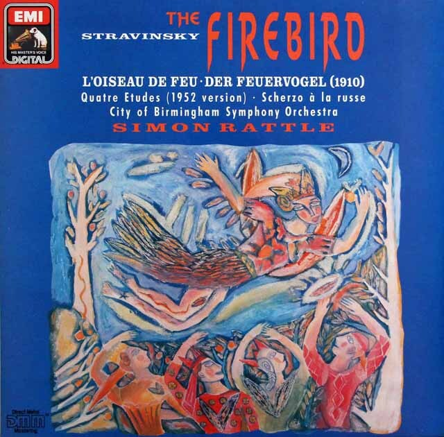 ラトルのストラヴィンスキー/「火の鳥」ほか  独EMI   3329 LP レコード