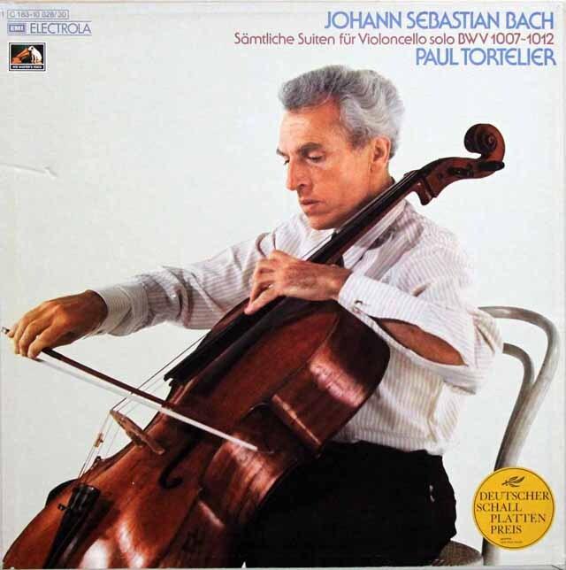 【特価】 トルトゥリエのバッハ/無伴奏チェロ組曲全集  独EMI 3329 LP レコード