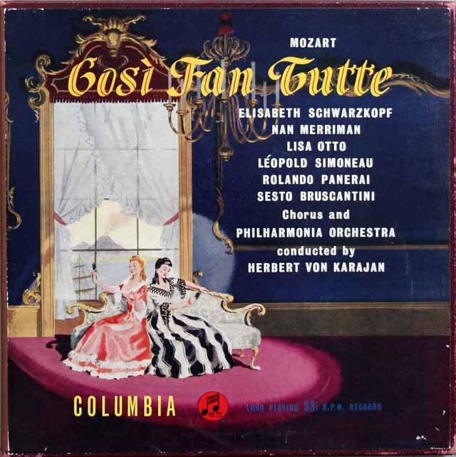 【オリジナル盤】 カラヤン&シュヴァルツコップのモーツァルト/「コジ・ファン・トゥッテ」全曲 英Columbia 3329 LP レコード