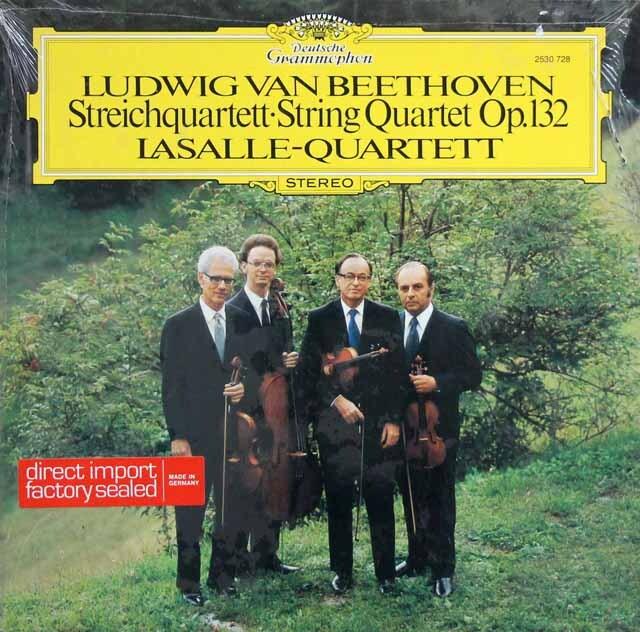 ラサール四重奏団のベートーヴェン/弦楽四重奏曲第15番 独DGG 3330 LP レコード