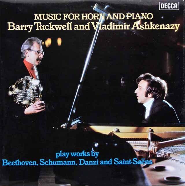 【オリジナル盤】 アシュケナージ、タックウェルのベートーヴェン/ピアノとホルンのためのソナタほか 英DECCA 3330 LP レコード