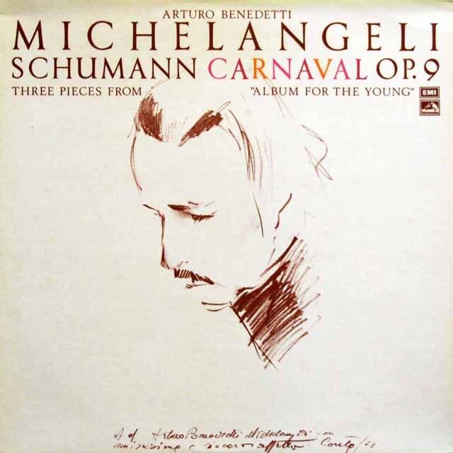 【オリジナル盤】 ミケランジェリのシューマン/「謝肉祭」ほか 英EMI 3330 LP レコード