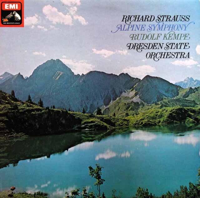 【オリジナル盤】 ケンペのR.シュトラウス/アルプス交響曲 英EMI 3330 LP レコード