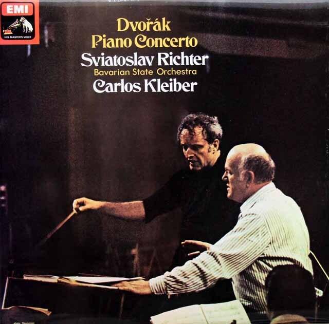 【オリジナル盤】 リヒテル、クライバーのドヴォルザーク/ピアノ協奏曲 英EMI 3330 LP レコード