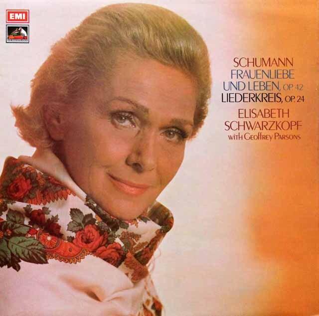 【オリジナル盤】 シュヴァルツコップのシューマン/「女の愛と生涯」ほか 英EMI 3330 LP レコード