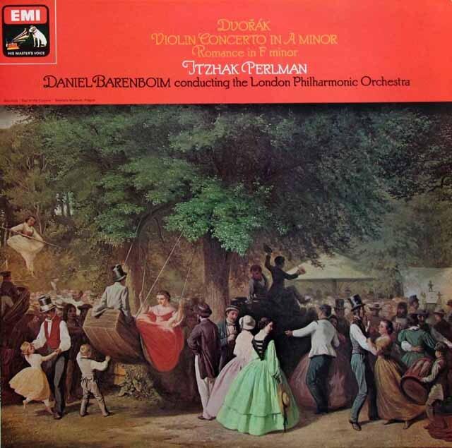 【オリジナル盤】 パールマン、バレンボイムのドヴォルザーク/ヴァイオリン協奏曲ほか 英EMI 3330 LP レコード