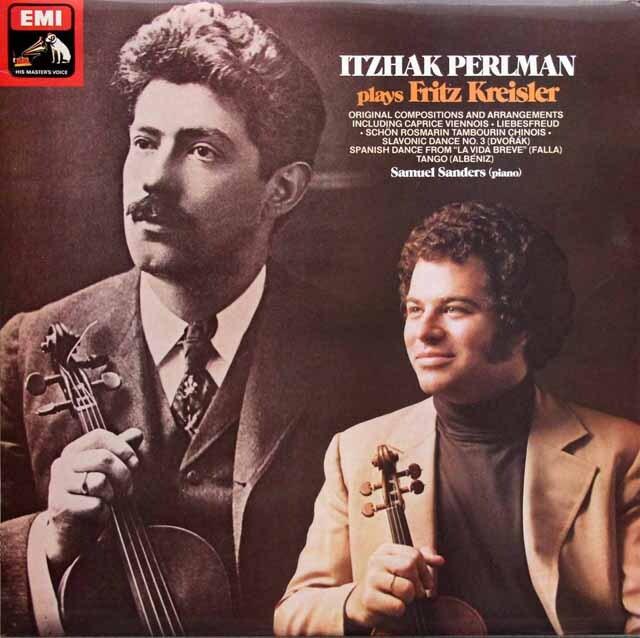【オリジナル盤】 パールマンのクライスラー/ヴァイオリン名曲集 英EMI 3330 LP レコード