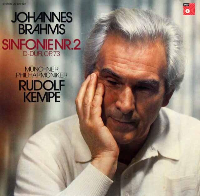 【オリジナル盤】 ケンペのブラームス/交響曲第2番 独BASF 3330 LP レコード