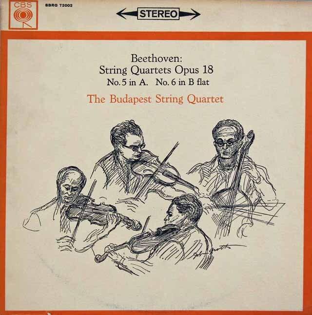 ブダペスト弦楽四重奏団のベートーヴェン/弦楽四重奏曲第5&6番 英CBS 3331 LP レコード