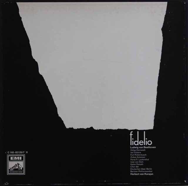 カラヤンのベートーヴェン/「フィデリオ」全曲 独EMI 3331 LP レコード