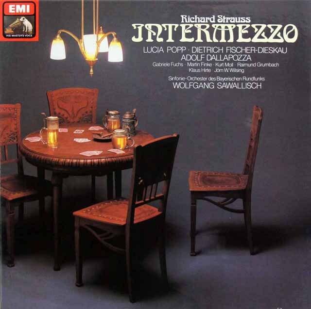 サヴァリッシュのR.シュトラウス/「インテルメッツォ」全曲 独EMI 3331 LP レコード