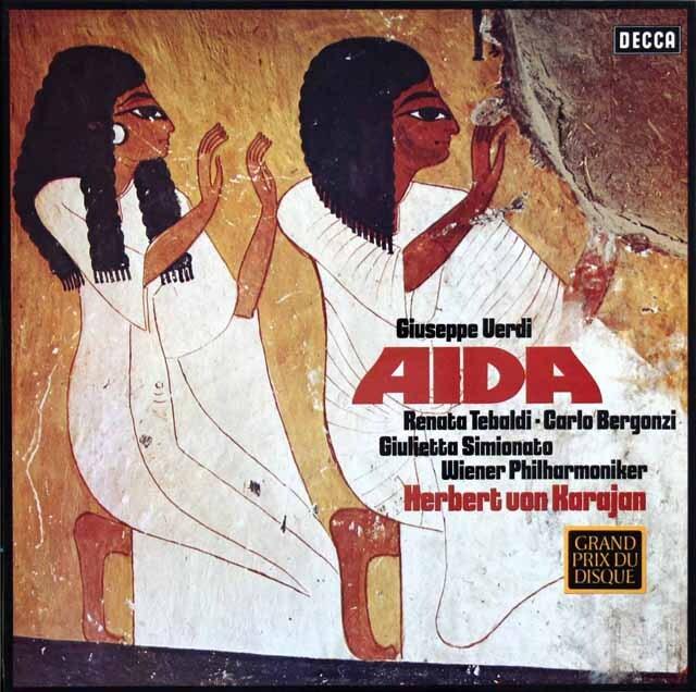 カラヤンのヴェルディ/「アイーダ」全曲 独DECCA 3331 LP レコード