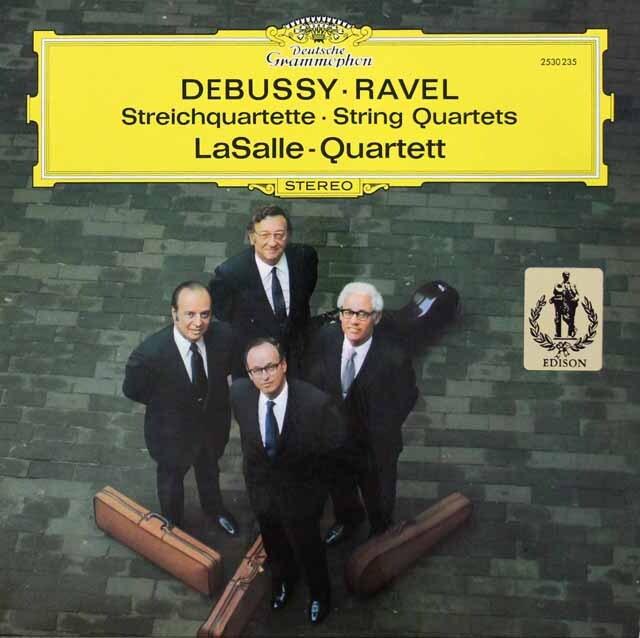 ラサール四重奏団のドビュッシー&ラヴェル/弦楽四重奏曲集 独DGG 3331 LP レコード