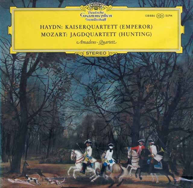【未開封】 アマデウス四重奏団のハイドン/「皇帝」、モーツァルト/「狩」 DGG 3332 LP レコード