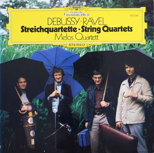 メロス四重奏団のドビュッシー、ラヴェル/弦楽四重奏曲 独DGG 3332 LP レコード