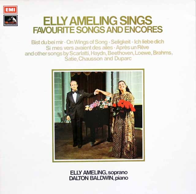 【オリジナル盤】 アメリングのメンデルスゾーン/「歌の翼に」ほか 英EMI 3332 LP レコード