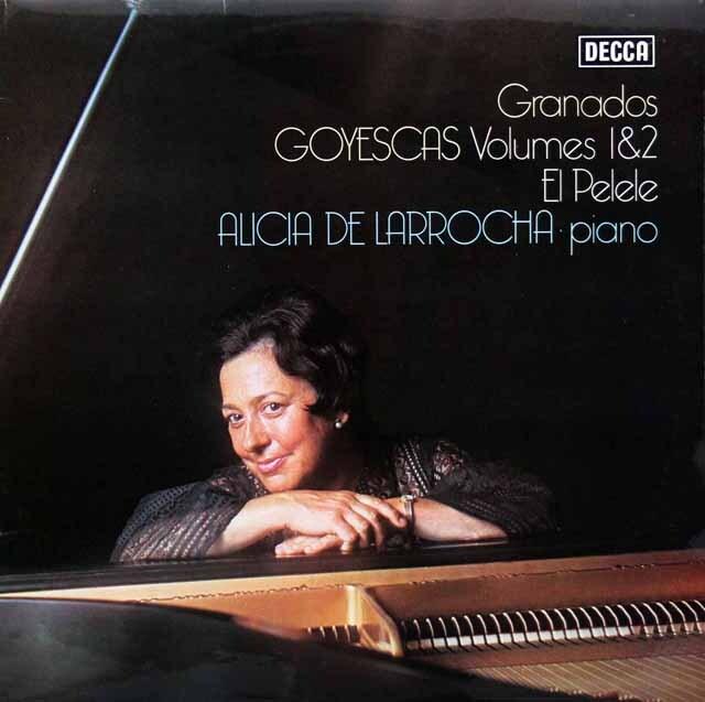 【オリジナル盤】 ラローチャのグラナドス/「ゴイェスカス」 英DECCA 3332 LP レコード