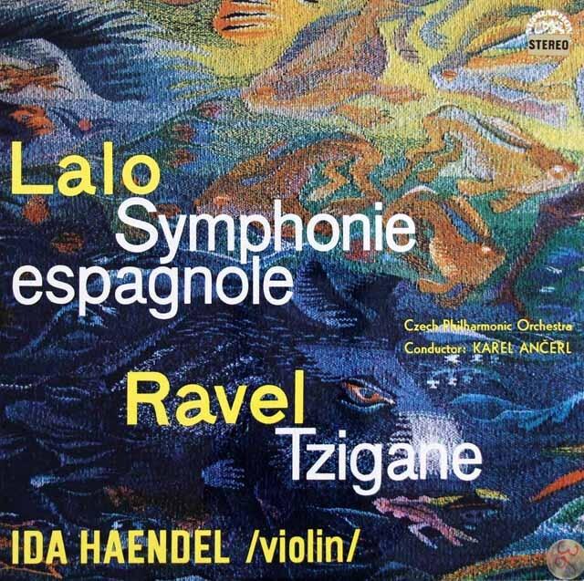 イダ・ヘンデル、アンチェルのラロ/スペイン交響曲ほか チェコスロヴァキアSUPRAPHON 3332 LP レコード