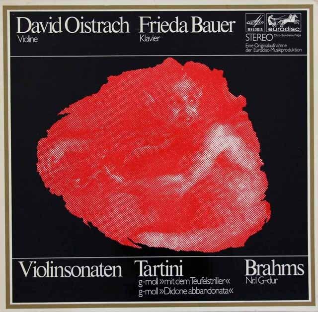 オイストラフ、バウアーのタルティーニ/「悪魔のトリル」ほか 独eurodisc 3332 LP レコード