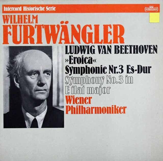 フルトヴェングラーのベートーヴェン/交響曲第3番「英雄」 独Intercord 3332 LP レコード