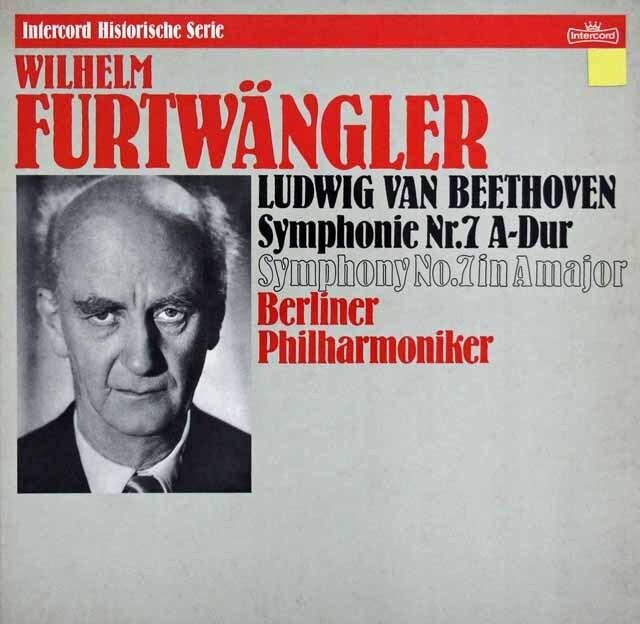 フルトヴェングラーのベートーヴェン/交響曲第7番 独Intercord 3332 LP レコード