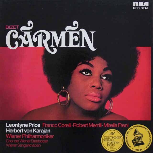 カラヤンのビゼー/歌劇「カルメン」全曲 独RCA 3332 LP レコード