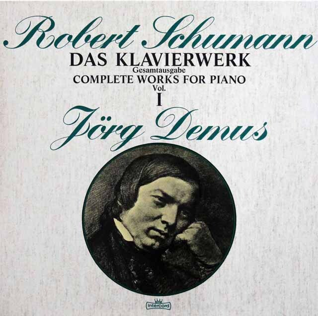 デームスのシューマン/ピアノ作品集 独intercord 3332 LP レコード