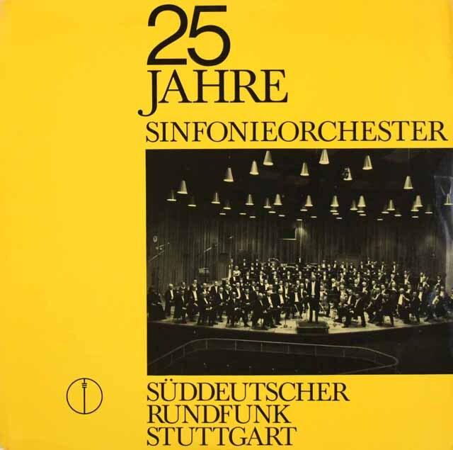 シュトゥットガルト放送交響楽団25周年記念LP(クライバーの「魔弾」ほか) 独SWR 3333 LP レコード