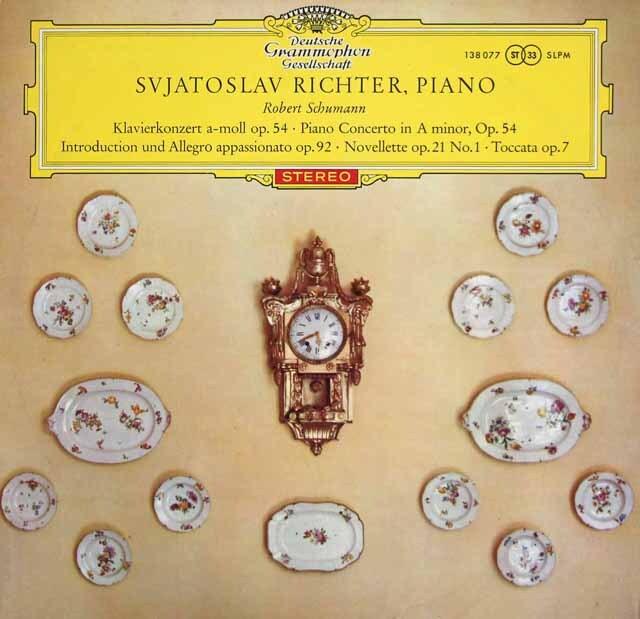 【赤ステレオ/独最初期盤】 リヒテル&ヴィスロツキのシューマン/ピアノ協奏曲ほか 独DGG 3333 LP レコード