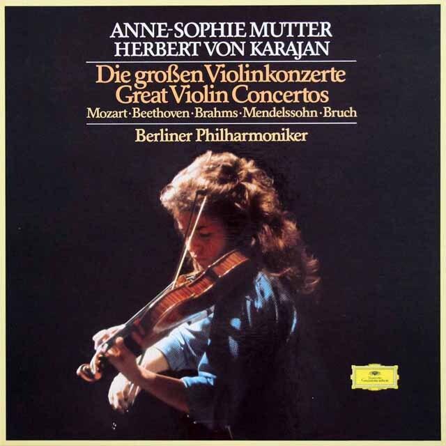 ムター、カラヤンのヴァイオリン協奏曲集 独DGG 3333 LP レコード