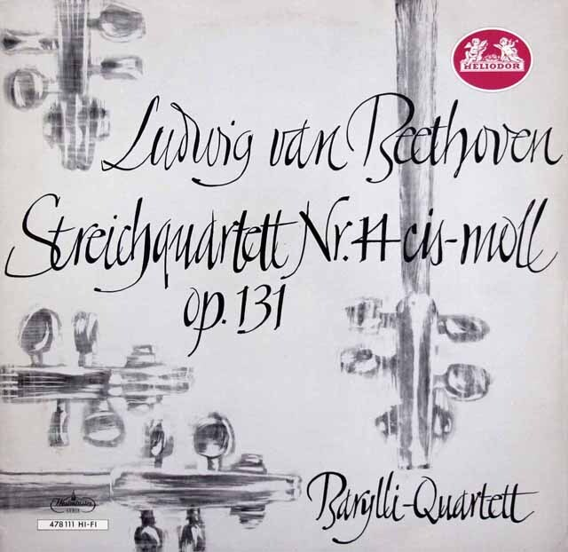 バリリ四重奏団のベートーヴェン/弦楽四重奏曲第14番 独HELIODOR 3333 LP レコード
