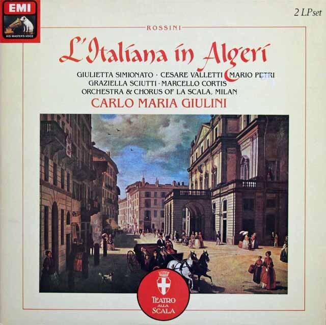 ジュリーニのロッシーニ/「アルジェのイタリア女」全曲 英EMI 3333 LP レコード