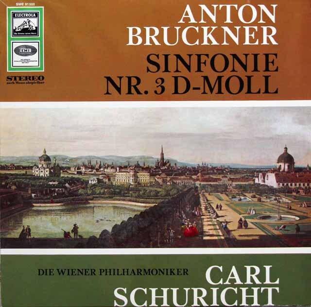 【独最初期盤】 シューリヒトのブルックナー/交響曲第3番 独EMI 3333 LP レコード