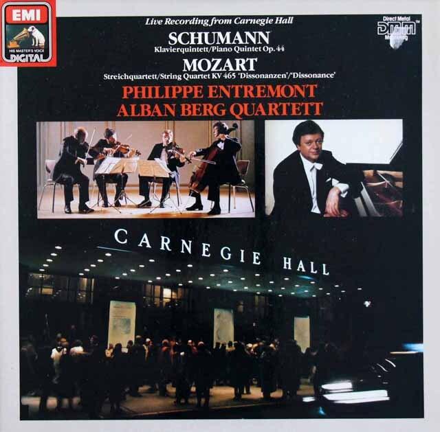アントルモン&アルバン・ベルク四重奏団のシューマン/ピアノ五重奏曲ほか  独EMI  3333 LP レコード