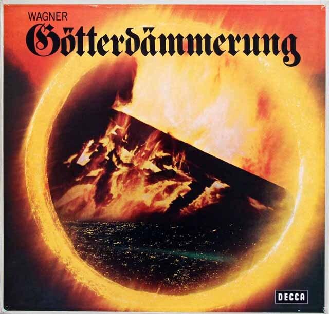 ショルティのワーグナー/「神々の黄昏」全曲 独DECCA 3333 LP レコード