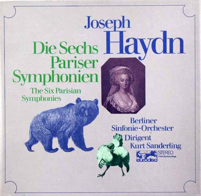ザンデルリンクのハイドン/パリ交響曲集(第82番~第87番) 独Eurodisc 3333 LPレコード