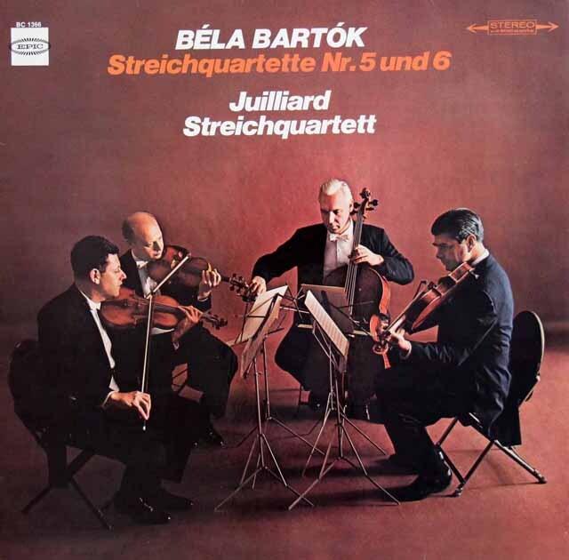 ジュリアード四重奏団のバルトーク/弦楽四重奏曲第5、6番 独EPIC 3333 LP レコード