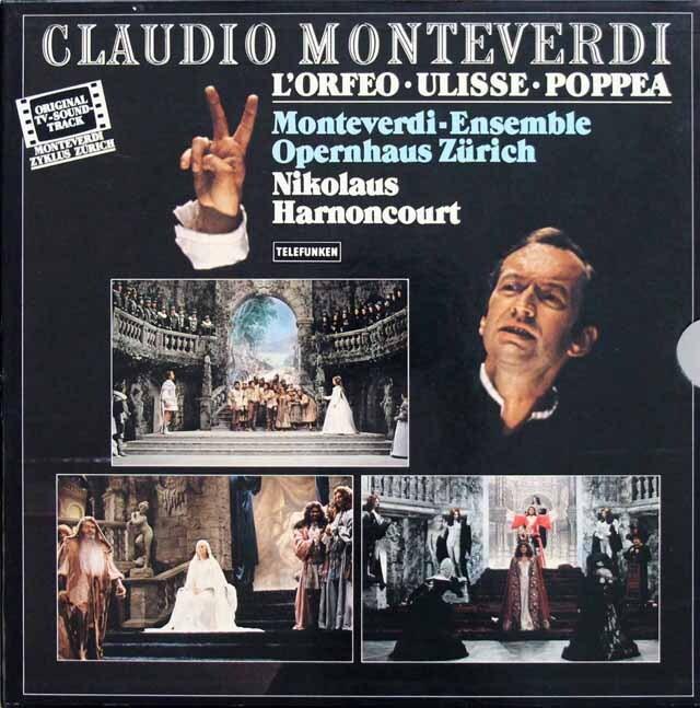【一部未開封】 アーノンクールのモンテヴェルディ/「オルフェオ」、「ウリッセの帰郷」、「ポッペアの戴冠」 独TELEFUNKEN 3333 LP レコード