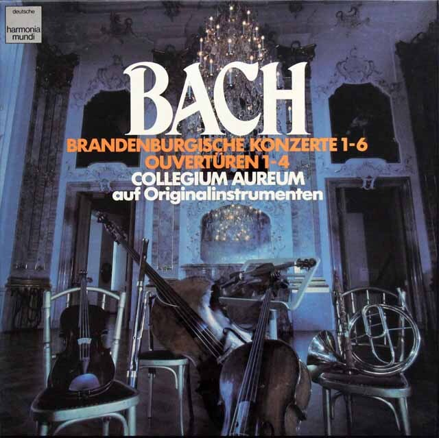 コレギウム・アウレウムのバッハ/ブランデンブルク協奏曲、管弦楽組曲 独HM 3333 LP レコード