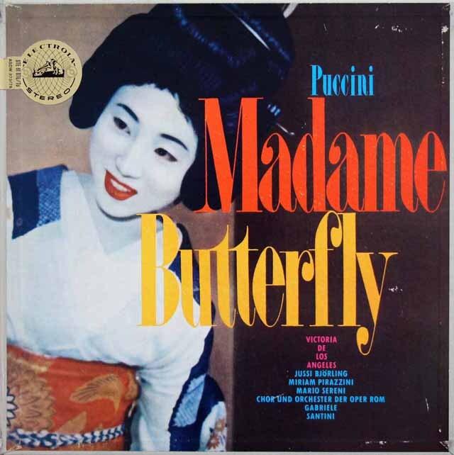 ロス・アンヘレス&サンティーニのプッチーニ/「蝶々夫人」全曲 独ELECTROLA 3333 LP レコード
