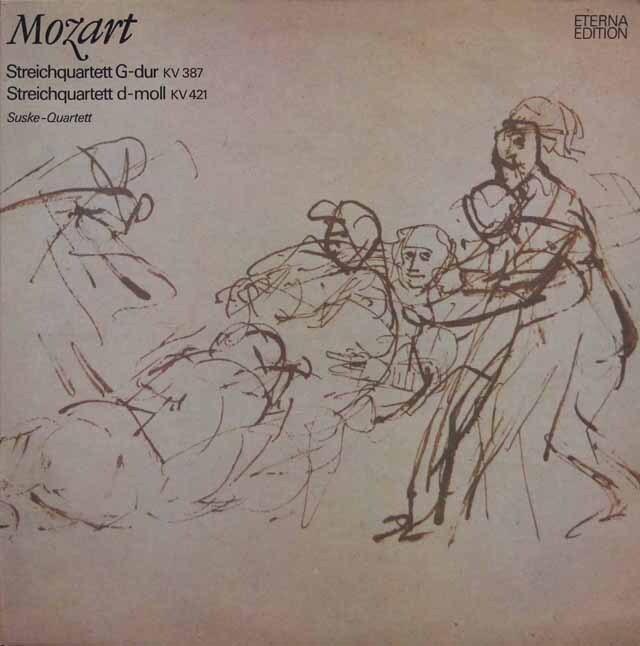 ズスケ四重奏団のモーツァルト/弦楽四重奏曲第14番「春」、第15番 東独ETERNA 3334 LP レコード