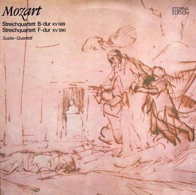 ズスケ四重奏団のモーツァルト/弦楽四重奏曲第22、23番 東独ETERNA 3334 LP レコード