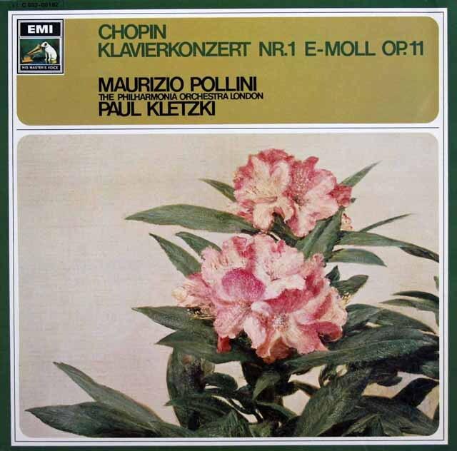 ポリーニ、クレツキのショパン/ピアノ協奏曲第1番 独EMI 3334 LP レコード