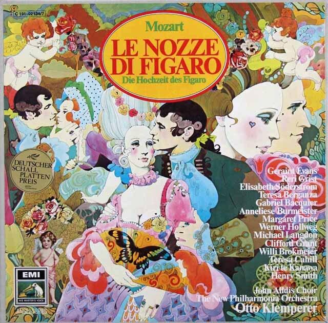 クレンペラーのモーツァルト/「フィガロの結婚」全曲 独EMI 3334 LP レコード